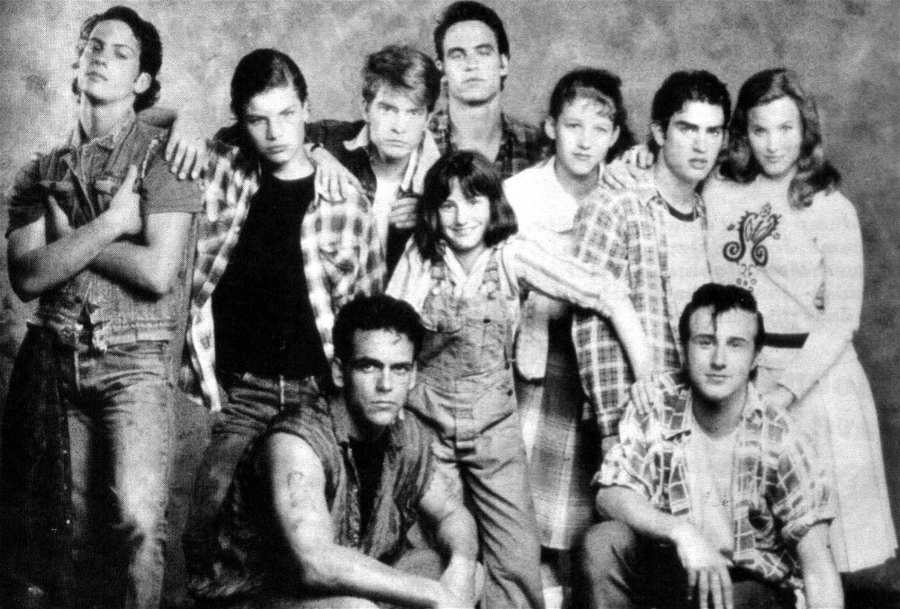 The Outsiders TV series cast LR back Harold Pruett