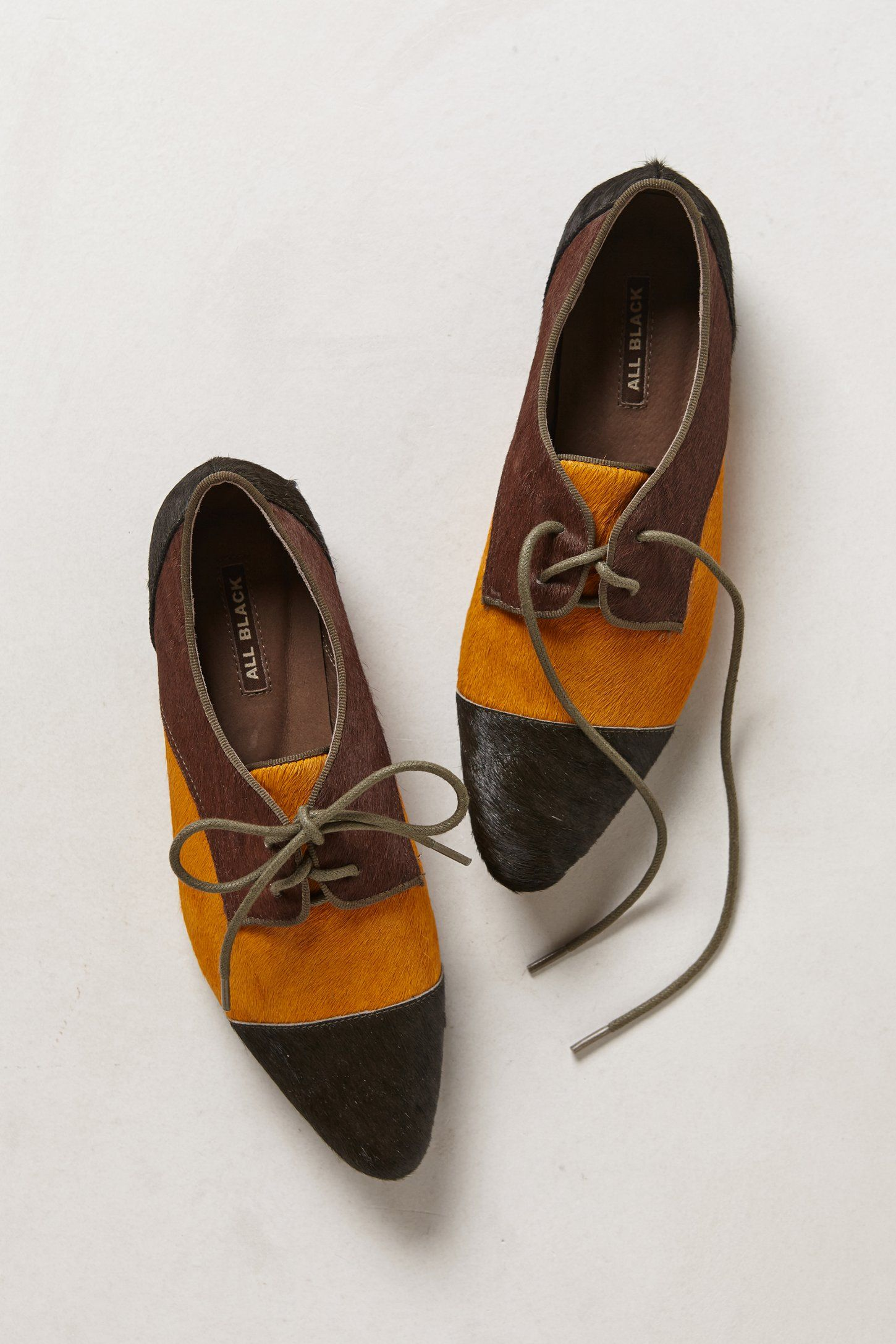 Pointed Pony Hair Oxfords - Anthropologie.com
