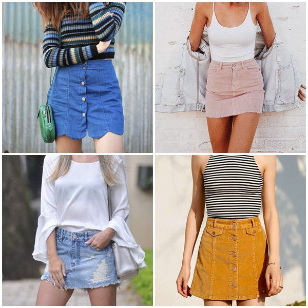 Alguns modelos de saias jeans não casam bem em uma pessoa dependendo do  restante do look 339ffd41d8ae6