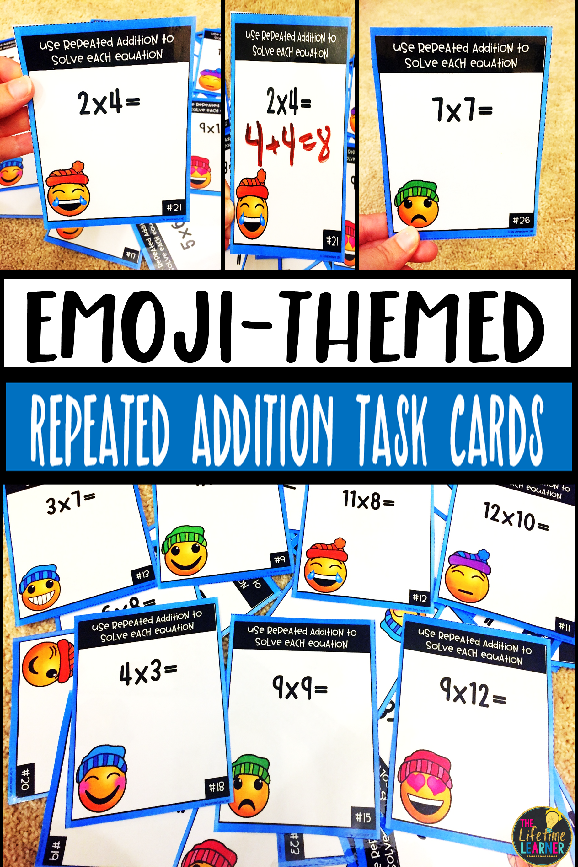 These Are 28 Multiplication Task Cards That Focus On The