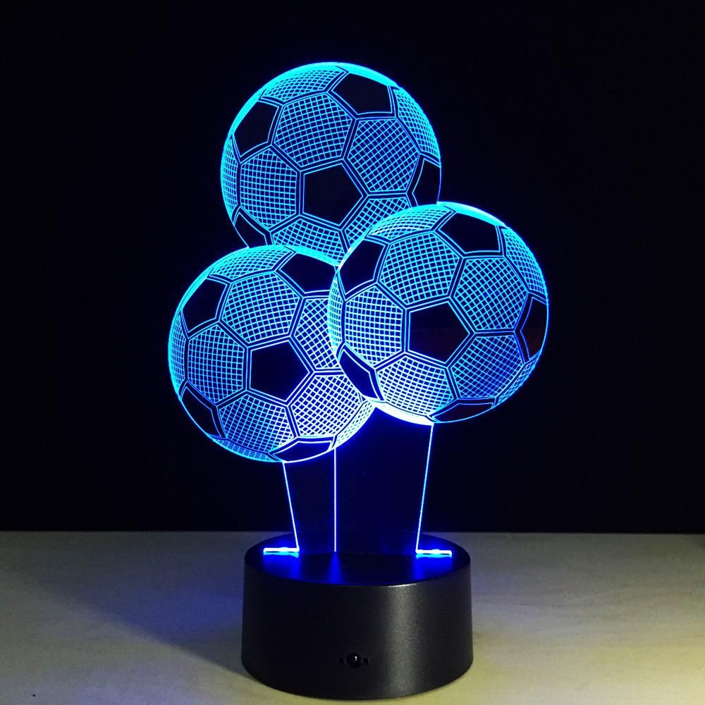 Football Balloons 3d Optical Illusion Lamp In 2020 Led Night Light Led Night Lamp Night Light