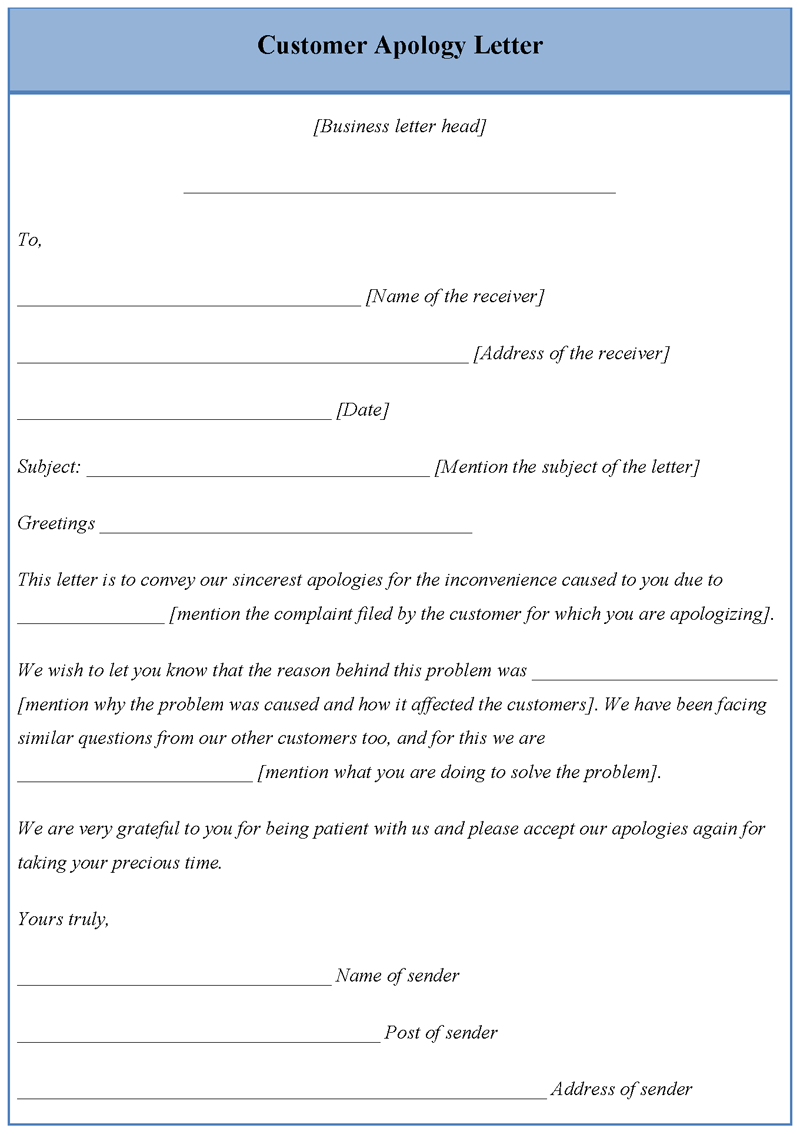 Download Editable Customer Apology Letter Template For Only