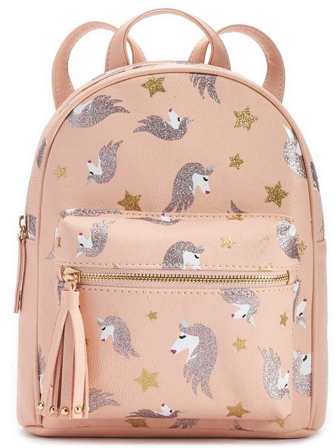 b0f551a2ad OMG Accessories Glittery Unicorn Print Mini Backpack in 2019 ...