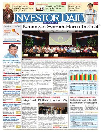 Investor Daily - 11 Agustus 2016   Keuangan Syariah Harus Inklusif   Investor Daily