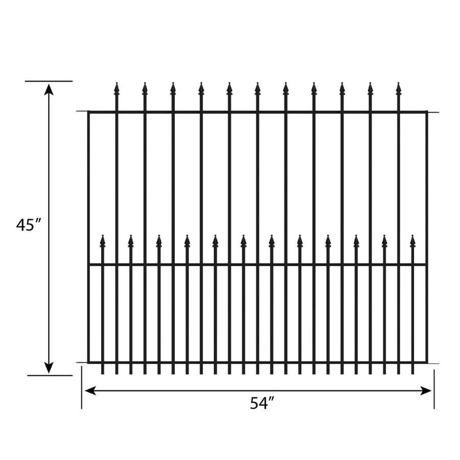 How To Install A No Dig Fence Lowes Grand Empire Xl Everyday Old House Metal Fence Panels Fence Panels Metal Fence