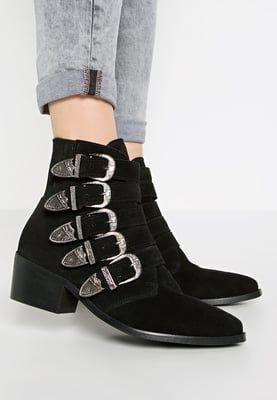 Pavement Puk Botki Kowbojki I Motocyklowe Black Zalando Pl Boots Ankle Boot Shoes
