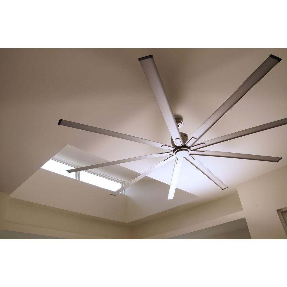 Best Ceiling Fan For Large Great Room: Big Air 96 In. Indoor Metallic Satin Nickel Industrial