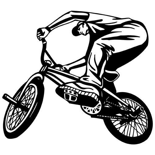 Details about BMX BIKE RIDING CLIPART-VINYL CUTTER PLOTTER IMAGES ...