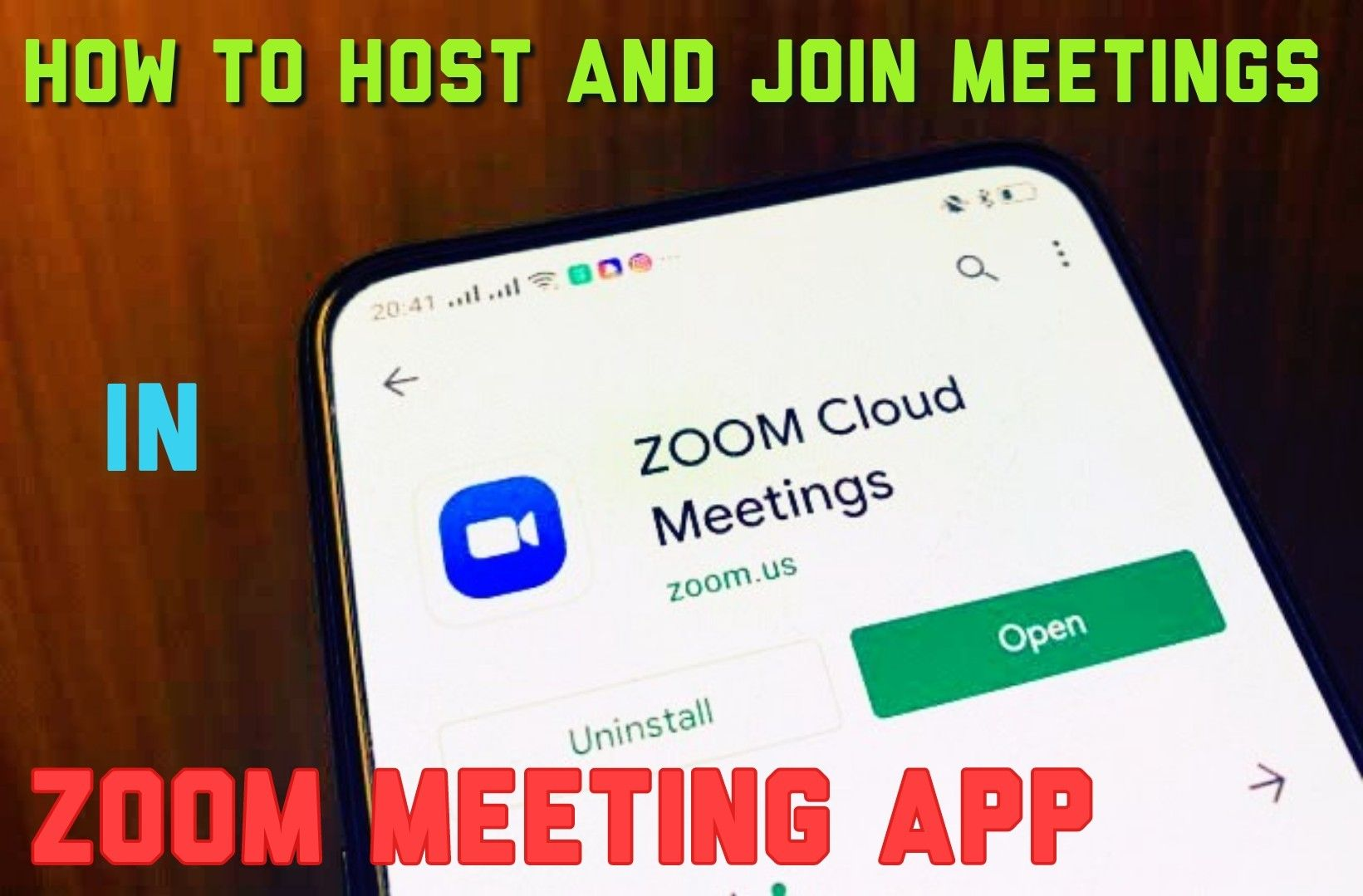 How To Use Zoom Meetings App On Android Host And Join Meetings Zoom Meeting App Join Meeting Zoom Cloud Meetings