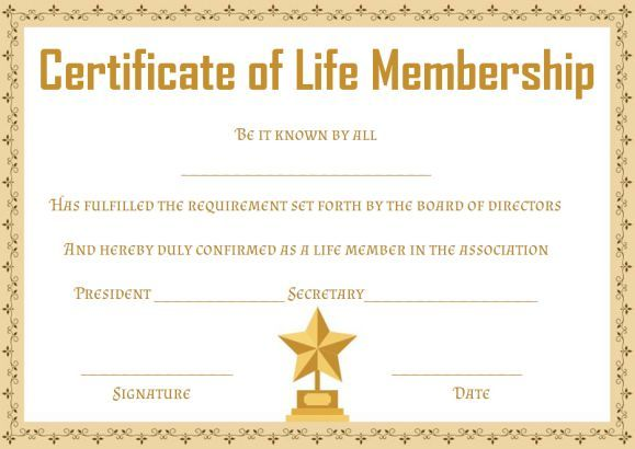 certificate of membership wording best and various templates design