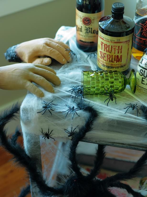 How to Create a Spooky Halloween Bar Pinterest Beverage cart - halloween club decorations