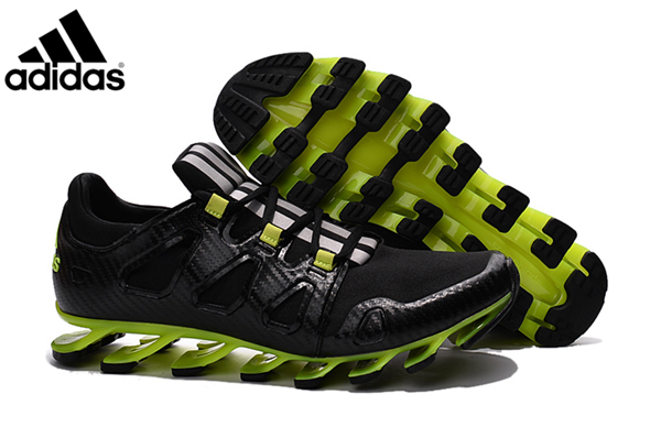 online store dac6d acf84 Men's Adidas Springblade Pro Running Shoes Black/Fluorescent ...