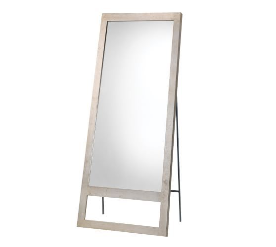 Austere Leaning Floor Mirror Champagne 30 Quot X 70 5 Quot In