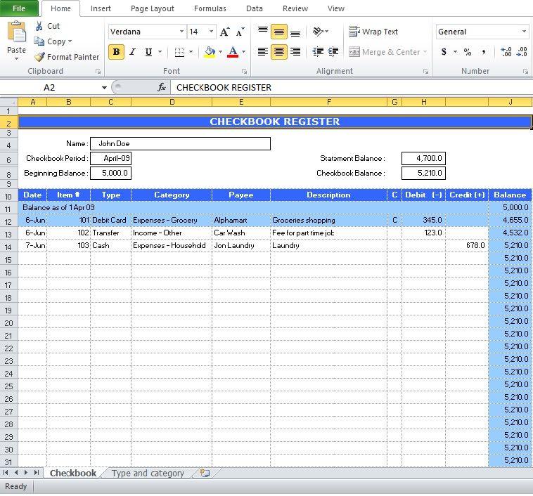 Free Check Register Excel Template Excel Templates Pinterest