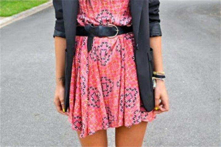 cute dress blazer and belt