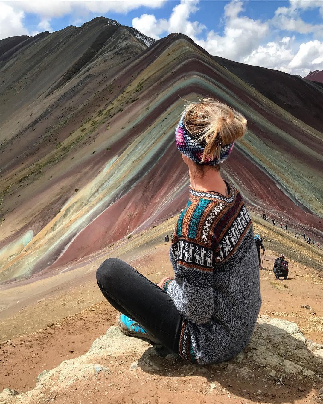 Jacqui Q On Instagram Rainbow Mountain Hike Peru 5000m Altitude Above Sea Level Everest Base Camp Is 540 Mountain Hiking Rainbow Mountain Peru Culture
