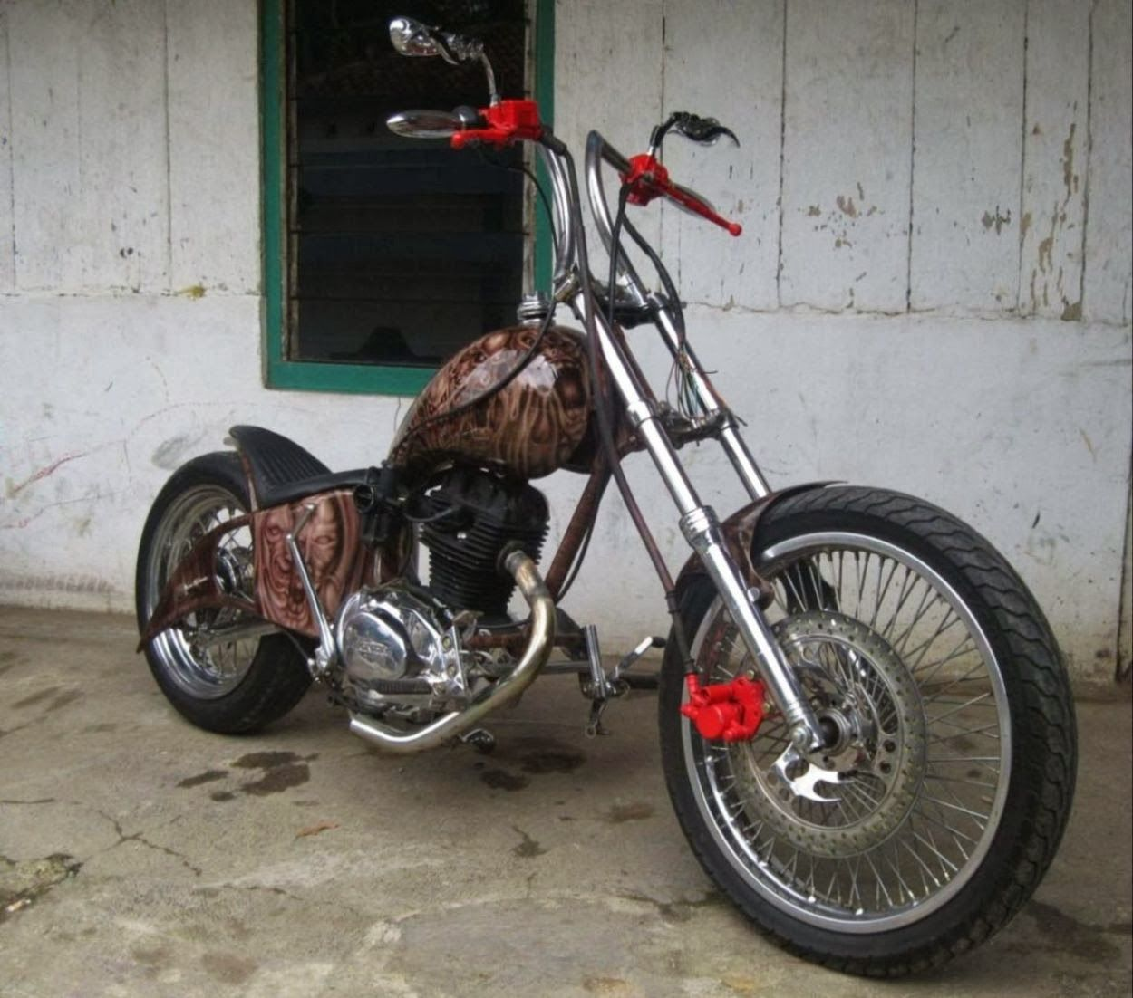 modifikasi motor cb 100 | motor | pinterest