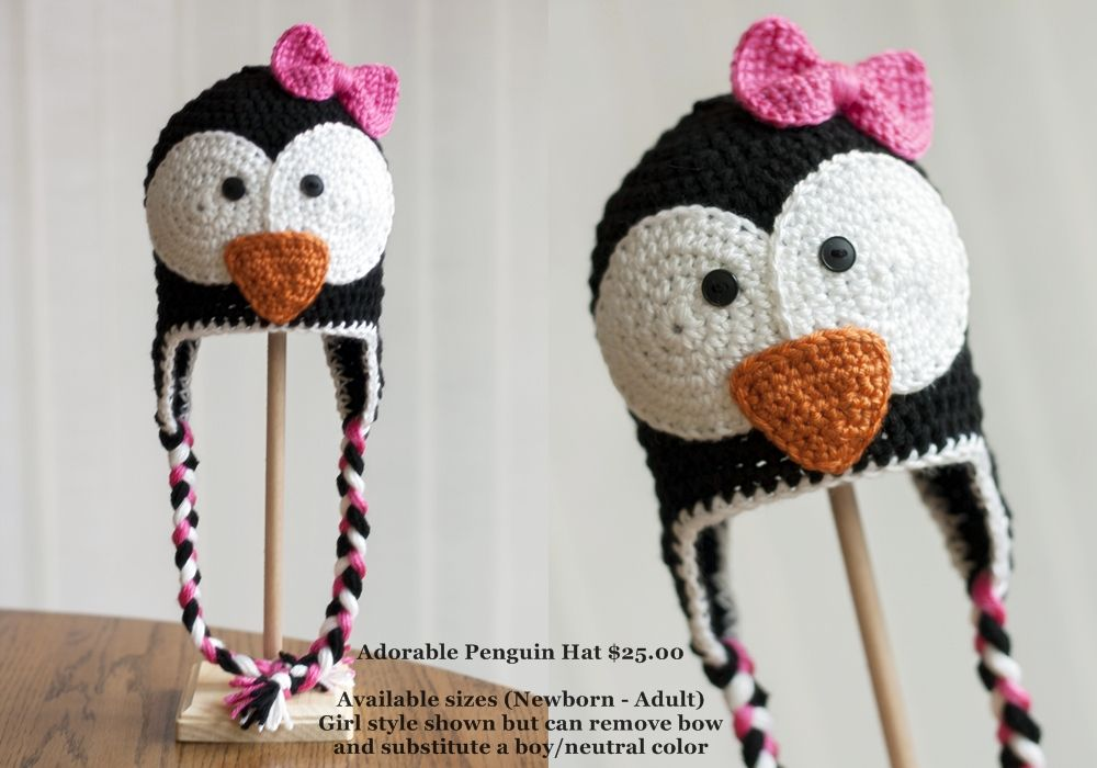 Adorable Crocheted Penguin hat! | Crochet