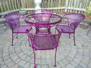 Purple Patio Set
