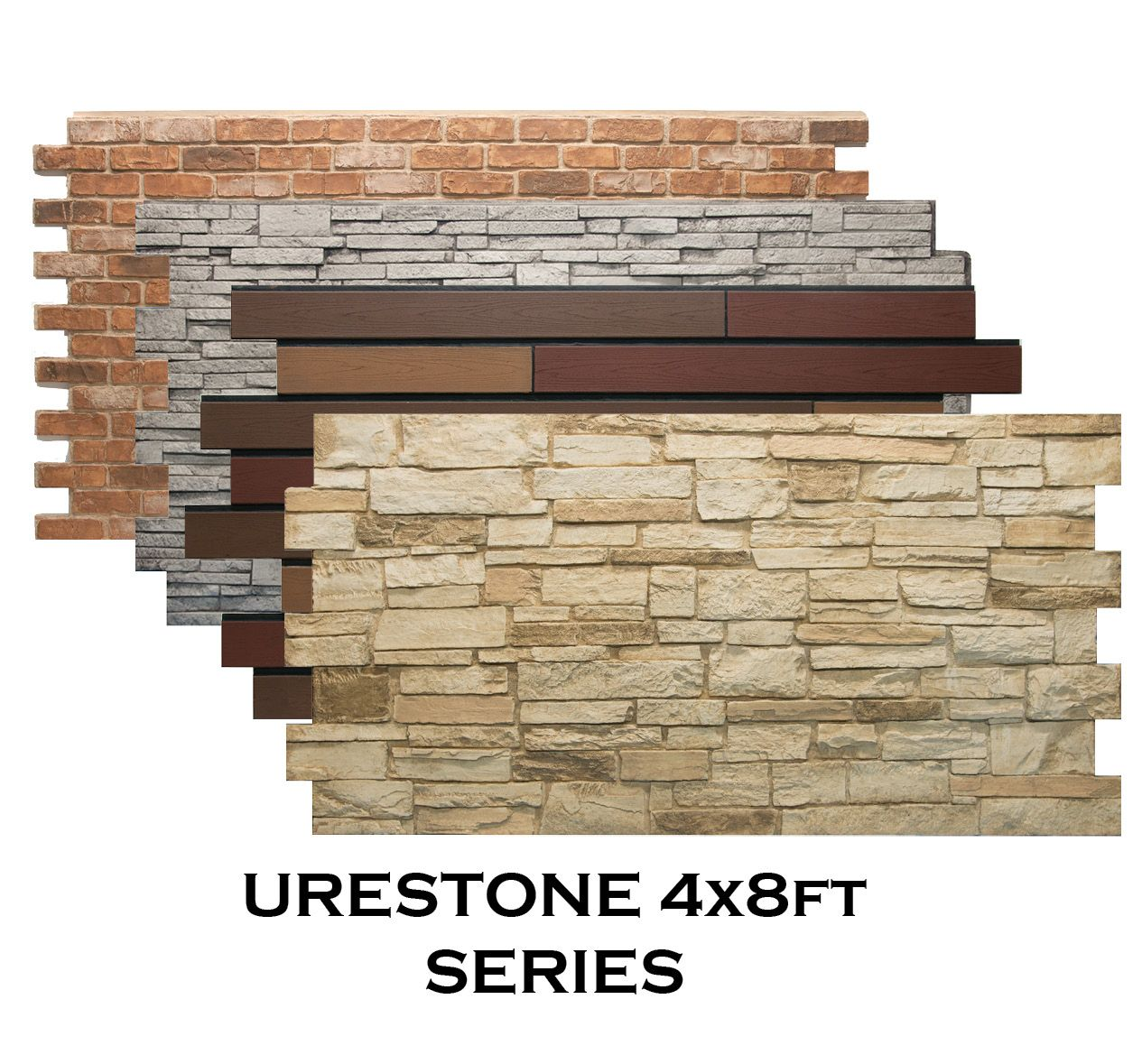 Brick Wall Sheet Faux Stone Panels By Texture In 2019 Houses