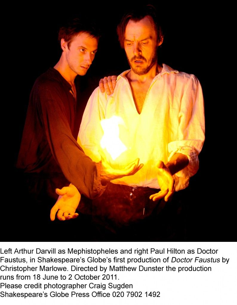 Arthur darvill and paul hilton doctor faustus at the