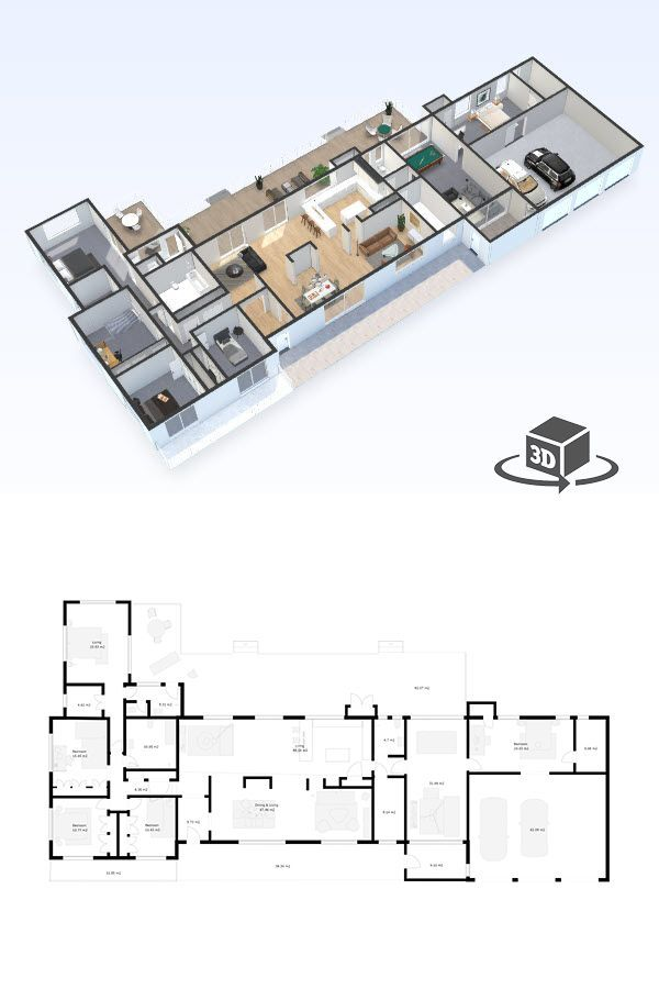 Pin by Floor Plans in Interactive 3D on House, Townhouse  Duplex