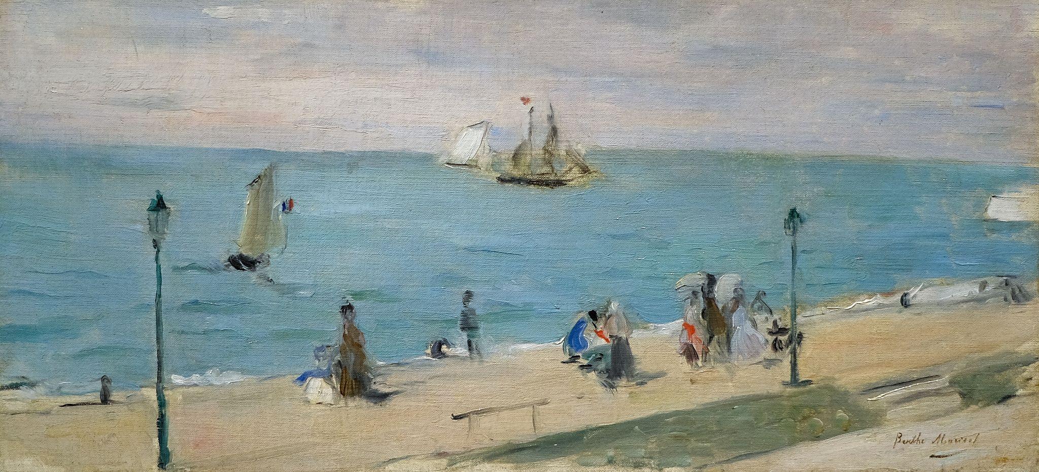 Berthe Morisot, On the Beach, 1873 3/10/19 #fristartmuseum | Morisot, Berthe  morisot, Painting reproductions