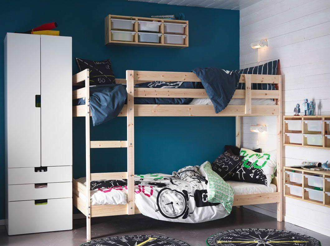 Tiny Box Room Ikea Stuva Loft Bed Making The Most Of: Ein Kinderzimmer Mit MYDAL Etagenbettgestell In Kiefer Und