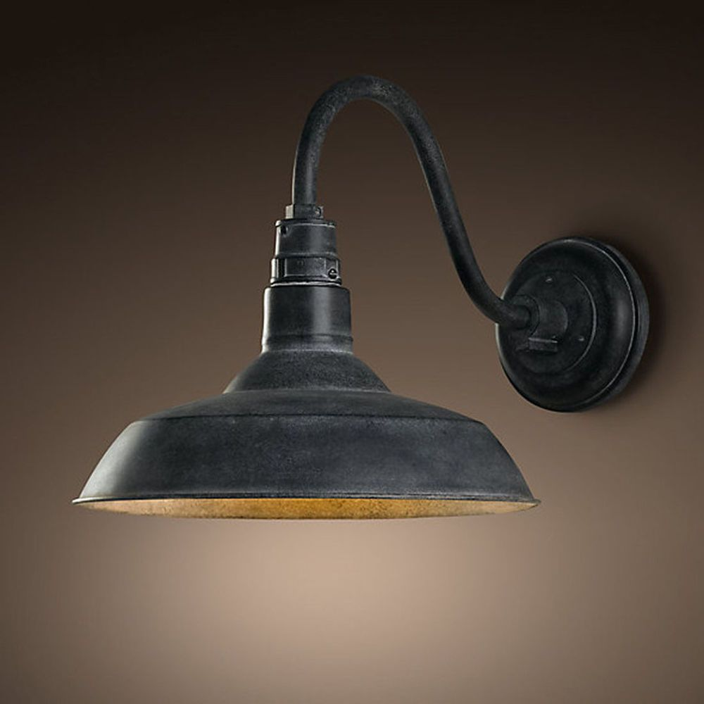 Details About Retro Industrial Gooseneck Barn Wall Sconce
