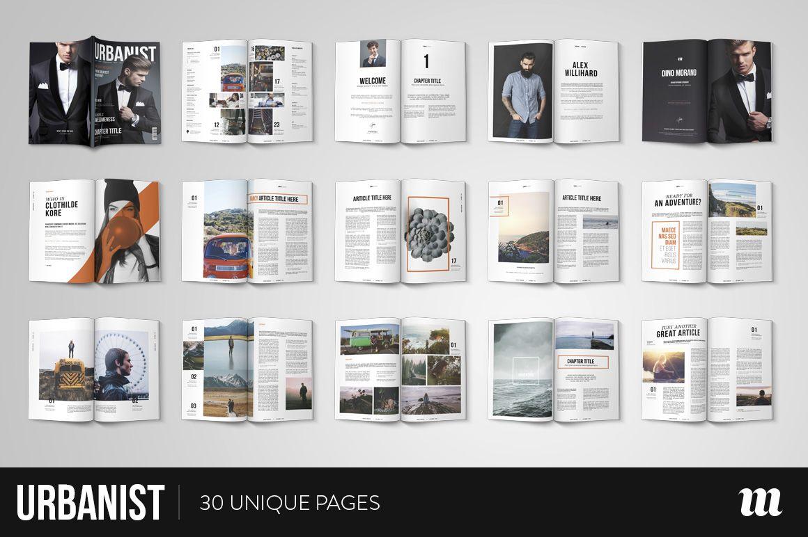 Urbanist Magazine InDesign Template | Indesign templates, Template ...