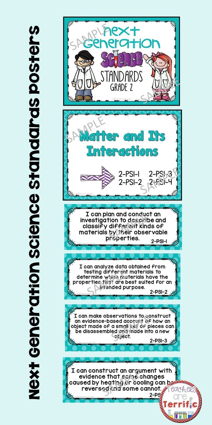 Next Generation Science Standards Posters for 2nd Grade (NGSS ...