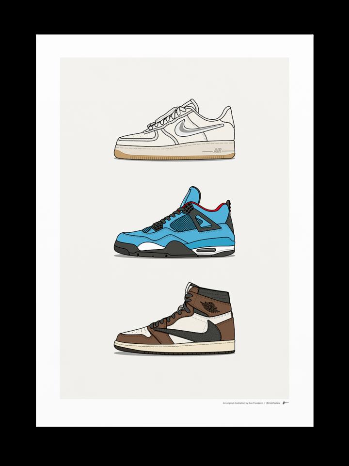 Triple Travis Scott X Nike Sneakers Wallpaper In 2020 Sneakers Wallpaper Sneaker Art Sneakers Sketch