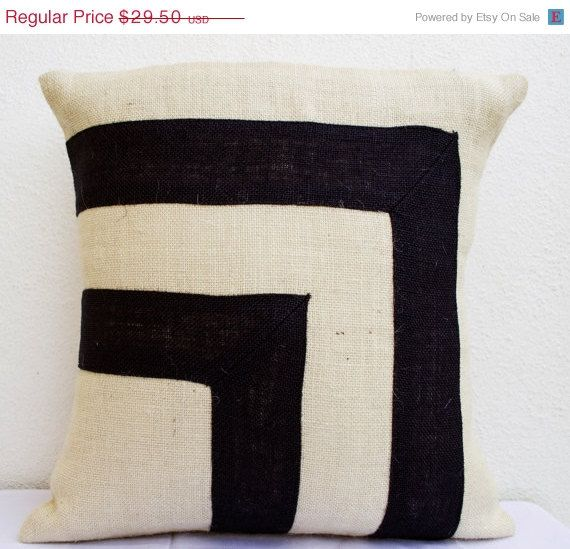 4th of July SALE Burlap Pillow Pillow cover in by AmoreBeaute