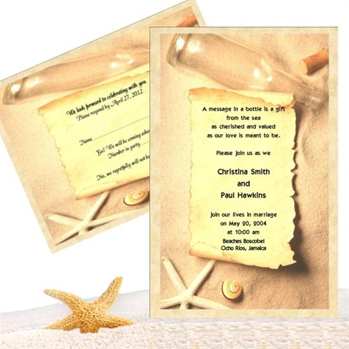 We do it all Message In A Bottle invitations Message In A Bottle