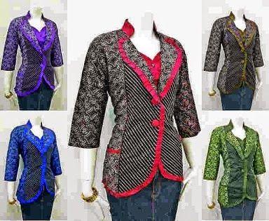 Model Baju Batik Kerja Wanita Elegan