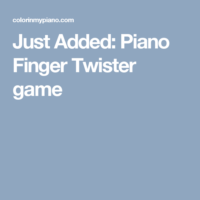how to play finger twister game