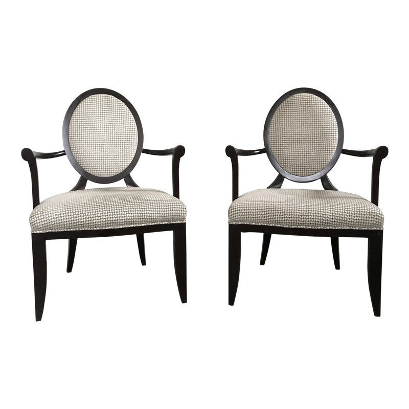 Oval X Back Dining Chair