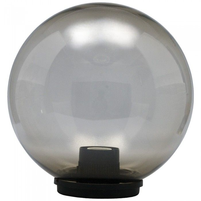Elco Modular Outdoor Globe Light   Smoked Globe By QVS   The UKs Leading  Electrical Supplies Wholesaler.