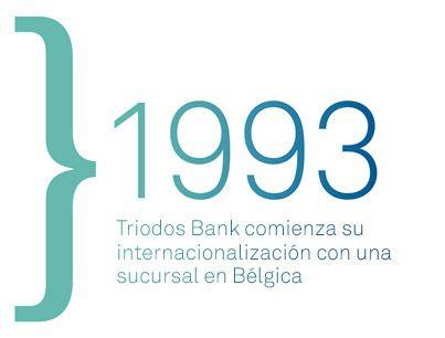 En 1993 Triodos Bank comienza su internacionalización en Europa con la apertura de una sucursal en Bélgica.