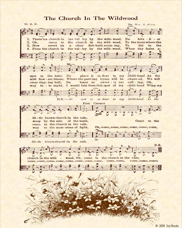 the church in the wildwood lyrics | urch In The Wildwood - (one of ...