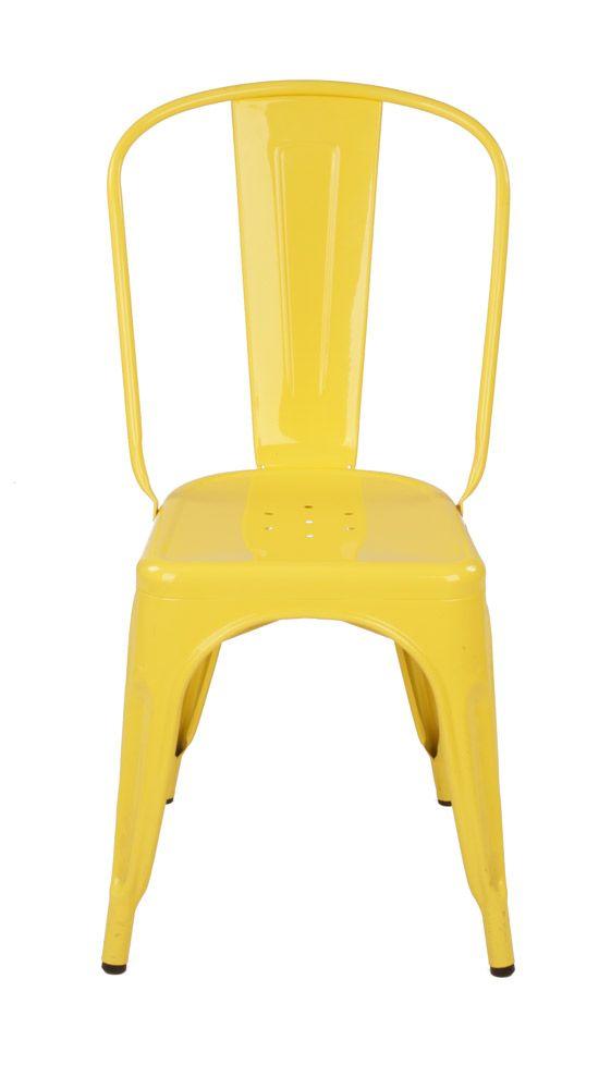 Xavier Pauchard Tolix Chair Powder Coated Replica Black