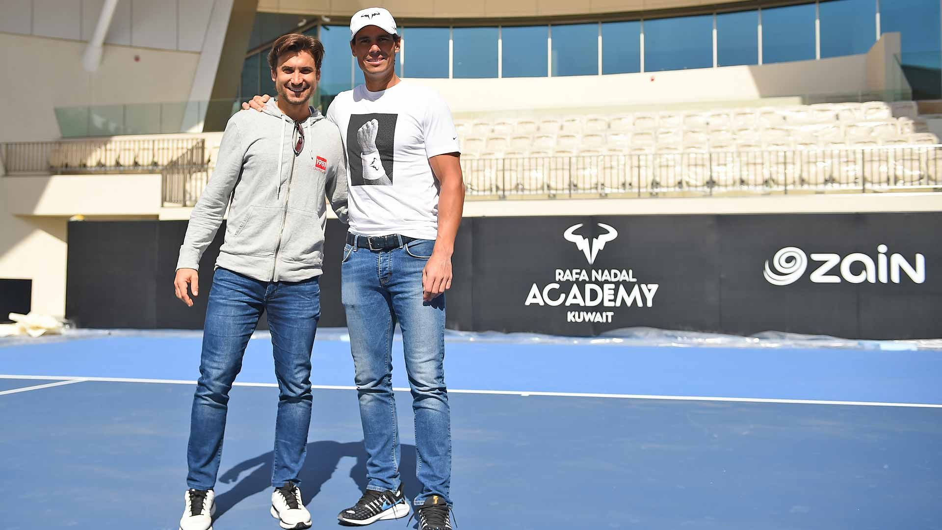 Rafael Nadal David Ferrer Inaugurate The Rafa Nadal Academy Kuwait Atp Tour Tennis The Rafa Nadal Academy Kuwait Is In 2020 Rafa Nadal Rafael Nadal Academy