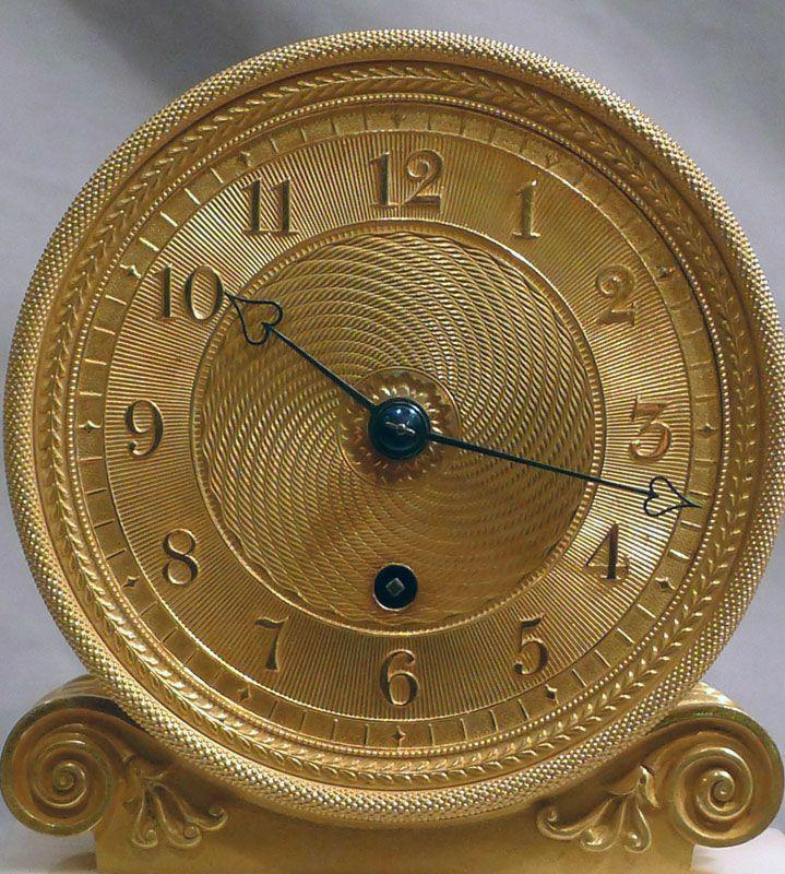 Ingl s antiguo regency bronce dorado y blanco reloj de - Repisas de marmol ...