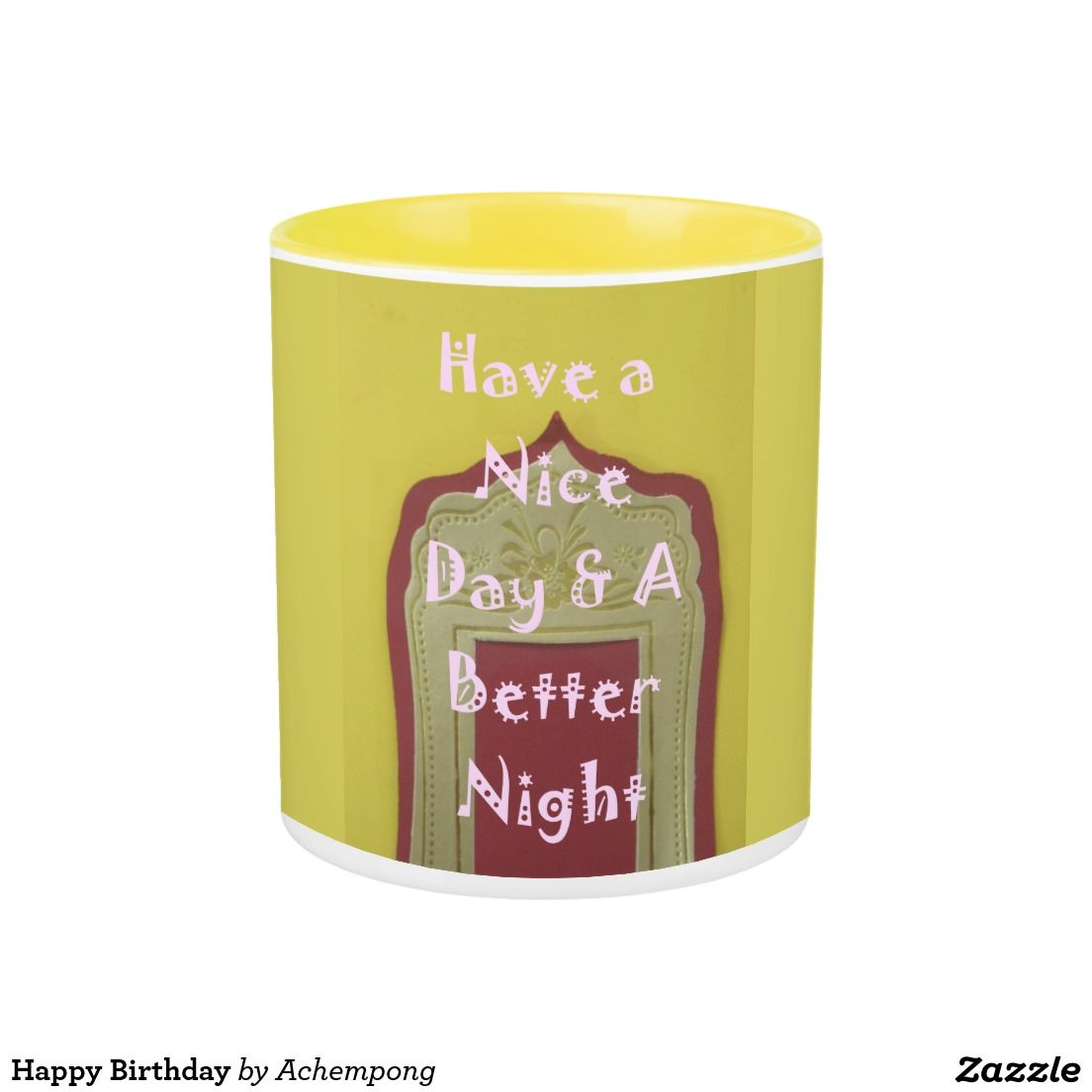 Hy Birthday Two Tone Coffee Mug Office Suppliestwo