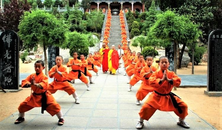 Monks of the Shaolin Temple where world-renowned Shaolin
