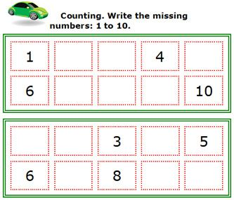 Number Names Worksheets : fill in the missing number worksheet ...