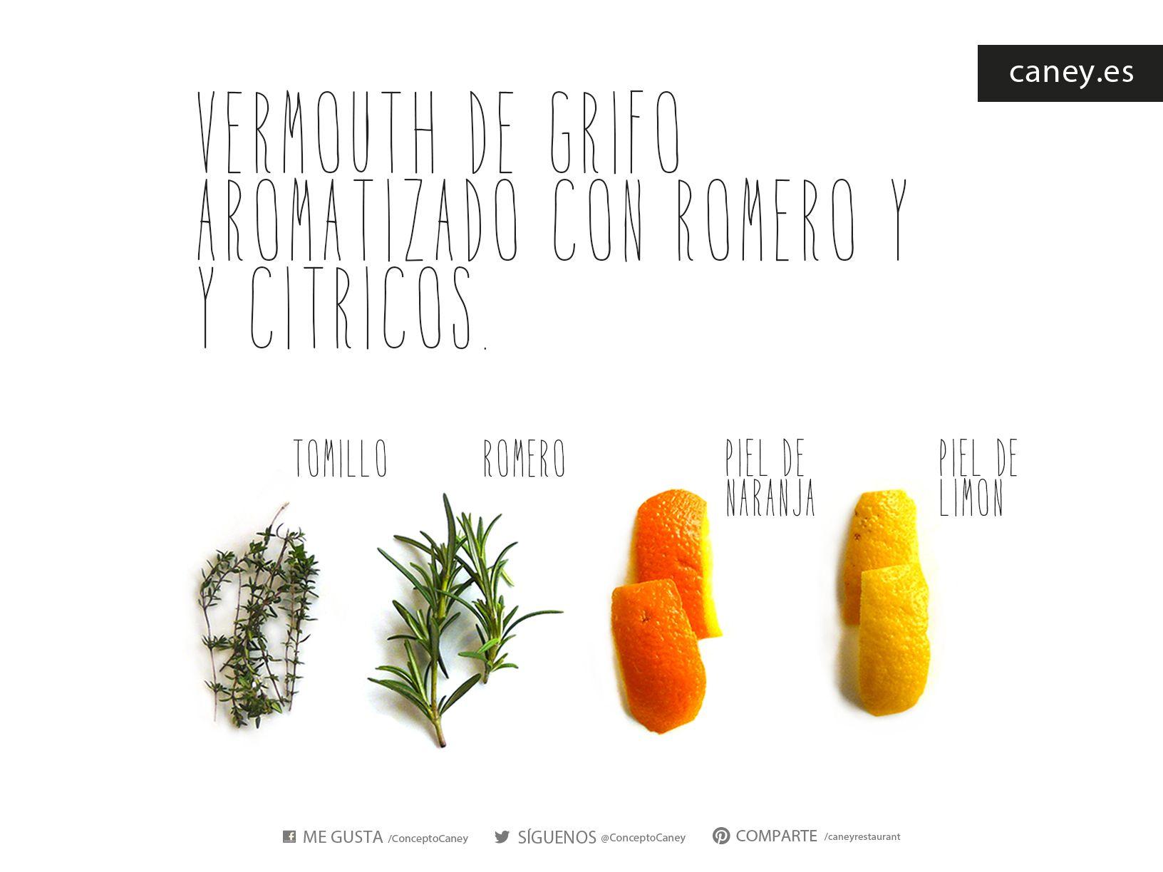 Vermouth de grifo aromatizado con romero y cítricos www.caney.es