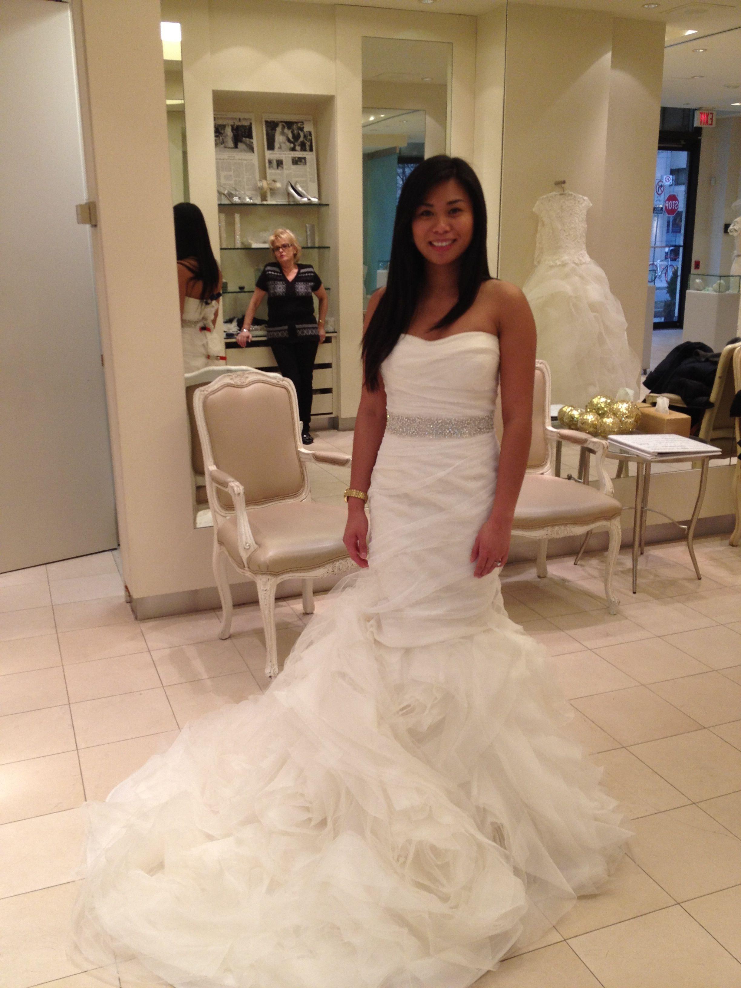 Cute wedding reception dresses for the bride  vera wang gemma with crystal belt  Wedding Ideas  Pinterest