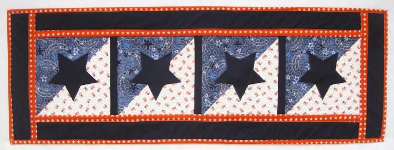 Patriotic Star Table Runner Embroidery Article