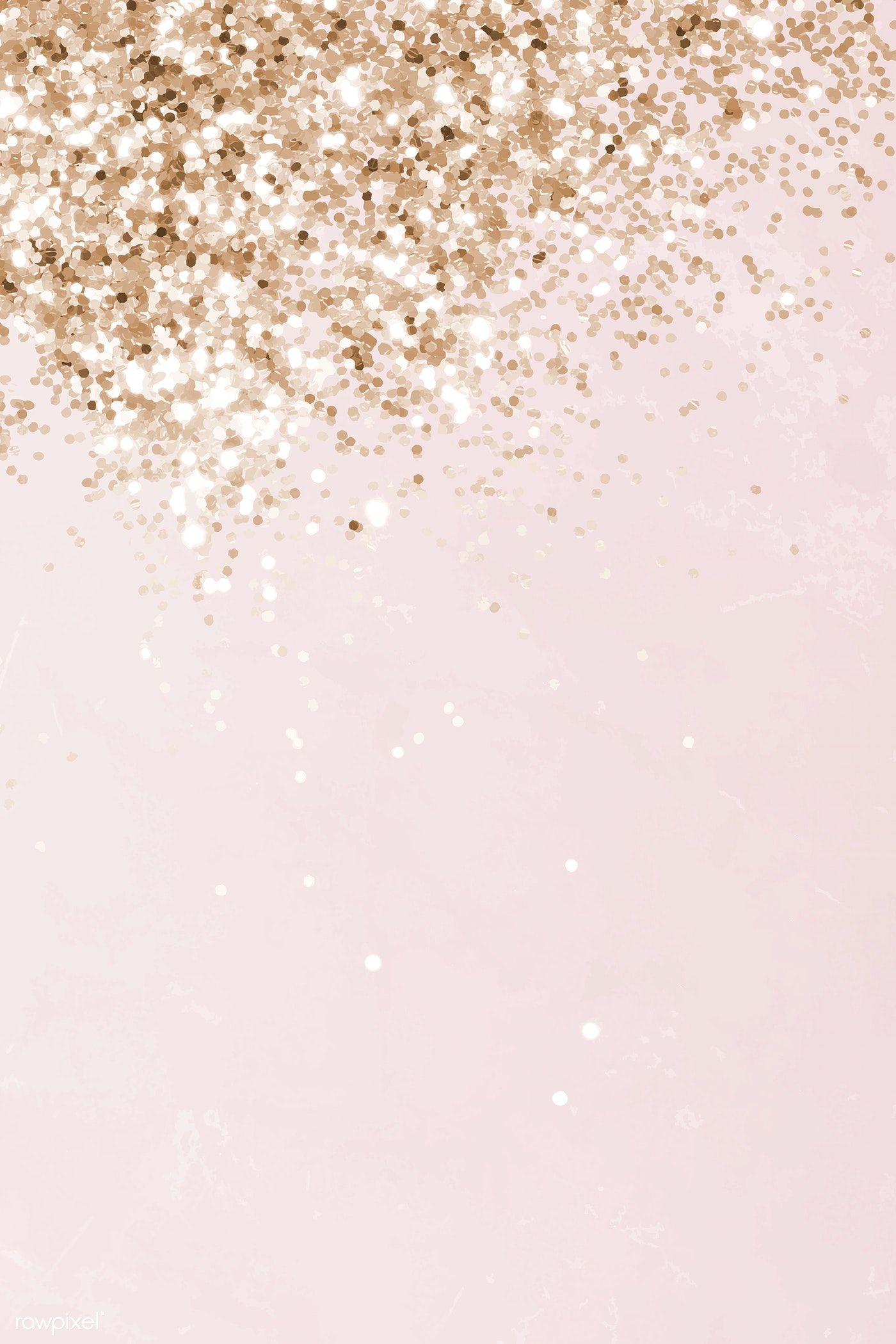 Pink and gold glittery pattern background vector   premium image by rawpixel.com
